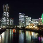 横浜ランドマークタワーを望む夜景