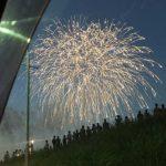 初開催の新横浜花火大会を車内から鑑賞